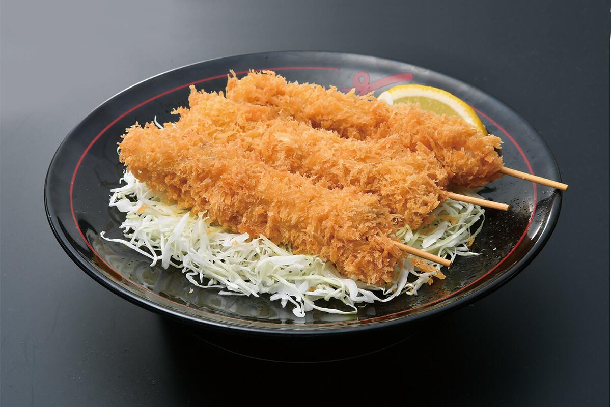 黒豚串かつ皿(3本)
